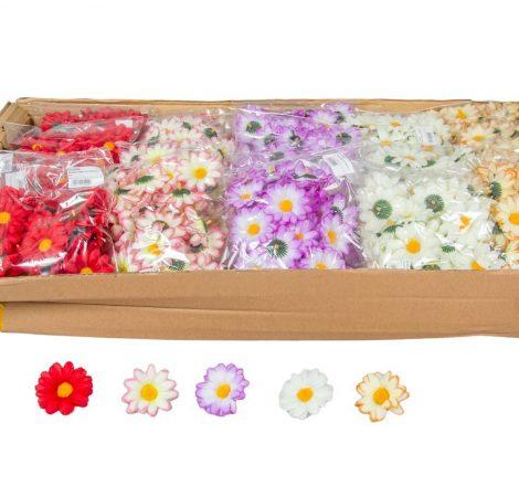 Margaréta virágfej D6cm 48db/szín/csom