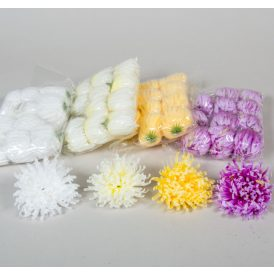 Krizantém virágfej D10cm 12db/csom