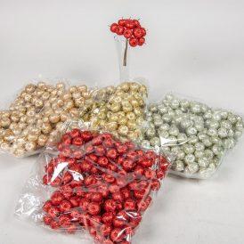 Glitteres alma pick 11cm 12db-os  (12csom/szín)
