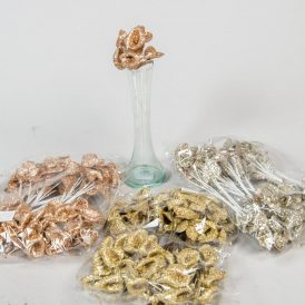 Glitteres kála pick 18cm 12db/szín/csom