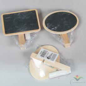 Csipeszes fa pala tábla krétával 7,5cm