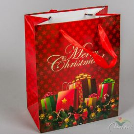 Papír tasak ajándék doboz mintával 18x23cm