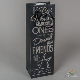 Papír tasak boros fekete 36x18cm