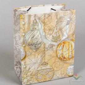 Papír tasak arany mintásl 18x23cm