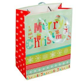 Papír tasak  Merry Christmas 18x23cm
