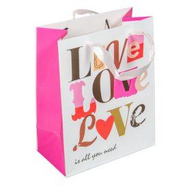 Papírtasak LOVE,LOVE,LOVE 18*23cm