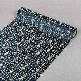 Metál mintás bársony tekercs 28x150cm