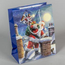 Ajándéktasak karácsonyi 23x18cm