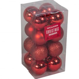 Műanyag gömb piros 50mm 16db-os