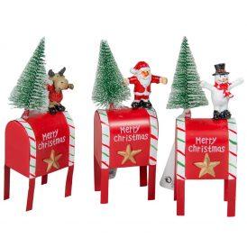 Postaláda karácsonyi figurával fém M16cm
