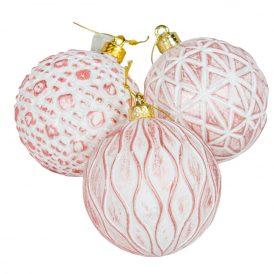 Barázdált műanyag gömb rózsaszín 80mm