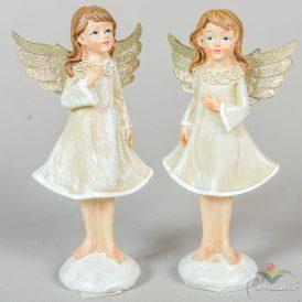 Angyal lányka álló glitteres szárnnyal poly. M15cm