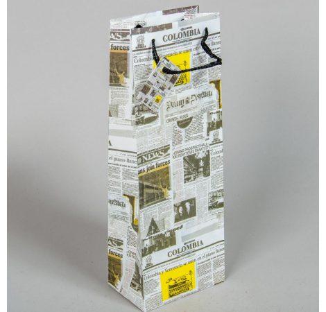 Papír tasak italos  újság papír mintával 36x13cm