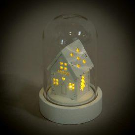 LED-es házikó üveg búrában  M9cm
