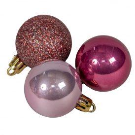 Műanyag gömb rózsaszín 40mm 20db-os
