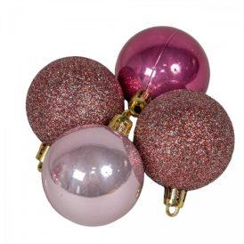 Műanyag gömb pink 50mm 16db-os