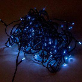 120 LED-es fényfüzér programos adapterrel hideg