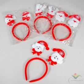 Karácsonyi fejdísz piros-fehér 24cm