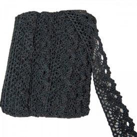 Csipke pamut fekete 18,29m