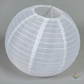 Kültéri textil lámpás fehér gömb 40cm