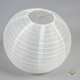 Kültéri textil  lámpás krém gömb 40cm