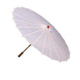 Organza esernyő fehér D80cm M53cm