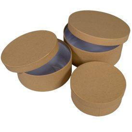 Papí rdoboz kerek kraft D20,17,15cm 3db-os szett ár