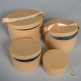 Papír doboz kraft D22,19,16,13cm 4db-os