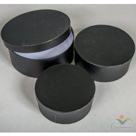 Papír doboz fekete D20,17,15 3db-os