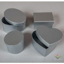 Papír doboz ezüst 8-11cm 4db-os szett