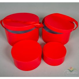 Papír doboz piros D22,19,16,13cm 4db-os