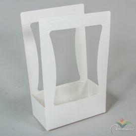 Papír doboz füles fehér M35x22x12cm