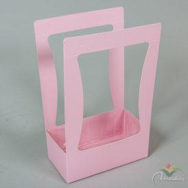 Papír doboz füles rózsaszín M35x22x12cm