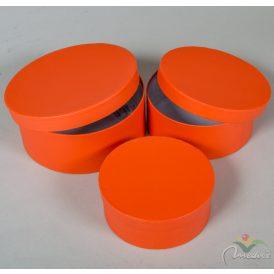 Papír doboz kerek korall D20,18,15cm 3db-os