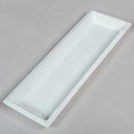 Fa tálca fehér 30x10cm