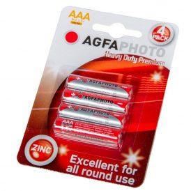 AgfaPhotos Heavy Duty prémium féltartós  mikro elem AAA B4 4db/csom