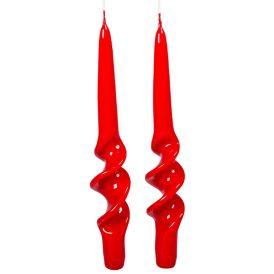 Lakkozott rövid alfa csavart gyertya piros 235x22mm 8db/csom (db ár)