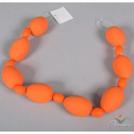 Dekor tojás girland narancs 60cm