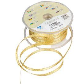 Díszitő szalag metál arany 6mmx50m