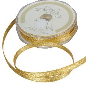 Díszitő szalag metál arany 9mmx50m