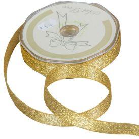 Díszitő szalag metál arany 15mmx50m