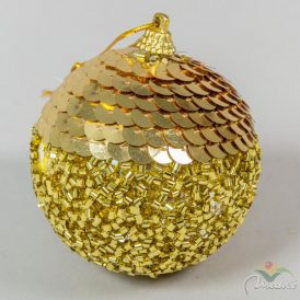 Strasszos gömb arany 8cm