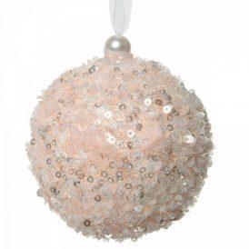 Cukormintás gömb rózsaszín 8cm