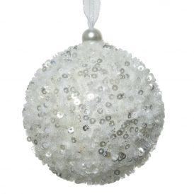 Cukormintás gömb téli fehér 8cm