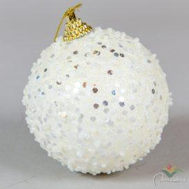Cukormintás gömb gyapjú fehér 8cm