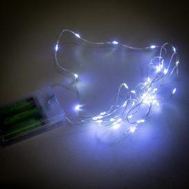 40 LED-es fényfüzér elemes (elem nélkül) hideg