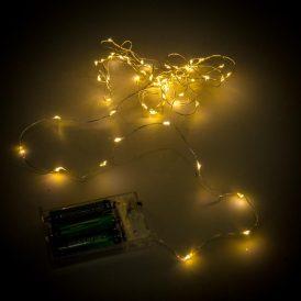 60 LED-es fényfüzér elemes (elem nélkül) meleg