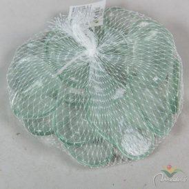 Dekor üveg kavics lapos víztiszta 40mm 500gr.