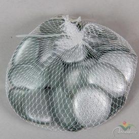 Dek.üvegkavics ezüst 40mm 500gr.