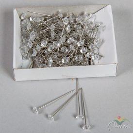 Dekor dísztű gyémánt kristállyal 6mmx4cm 72db-os